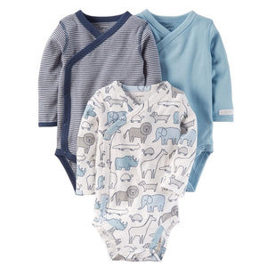 Carters Baby Boy 3-Pk Side-Snap Bodysuits Clothes